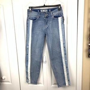 Rewash Side Snap Legs Jeans